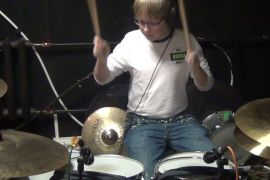 Drum Cover - Fine China - Chris Brown, boy play on drums after 16 lessons.