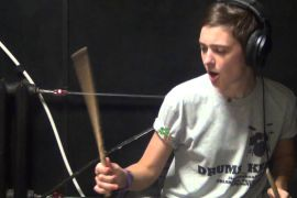 Drum Cover - Fine China - Chris Brown, girl play on drums after 16 lessons.