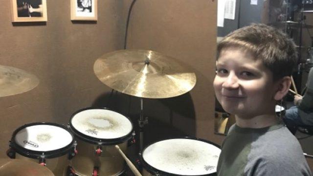 Юный барабанщик — Егор Олексиенко
