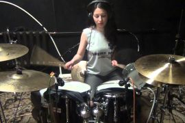 Sting - Drum Cover - Every breath you take, girl play on drums after 16 lesson